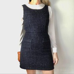 MONTEAU sparkle tweed jumper style dress